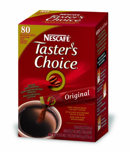 Nescafe Taster's Choice Instant Coffee, Regular, 80-Count Single Sticks (Pack of 2)