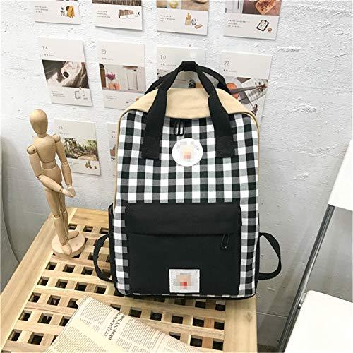 EVFIT Mochila para niñas y niñas, impermeable, para adolescentes y adolescentes, mochila escolar primaria, colegio, bolsa para ordenador portátil (color negro, tamaño: 26 x 10 x 36 cm)