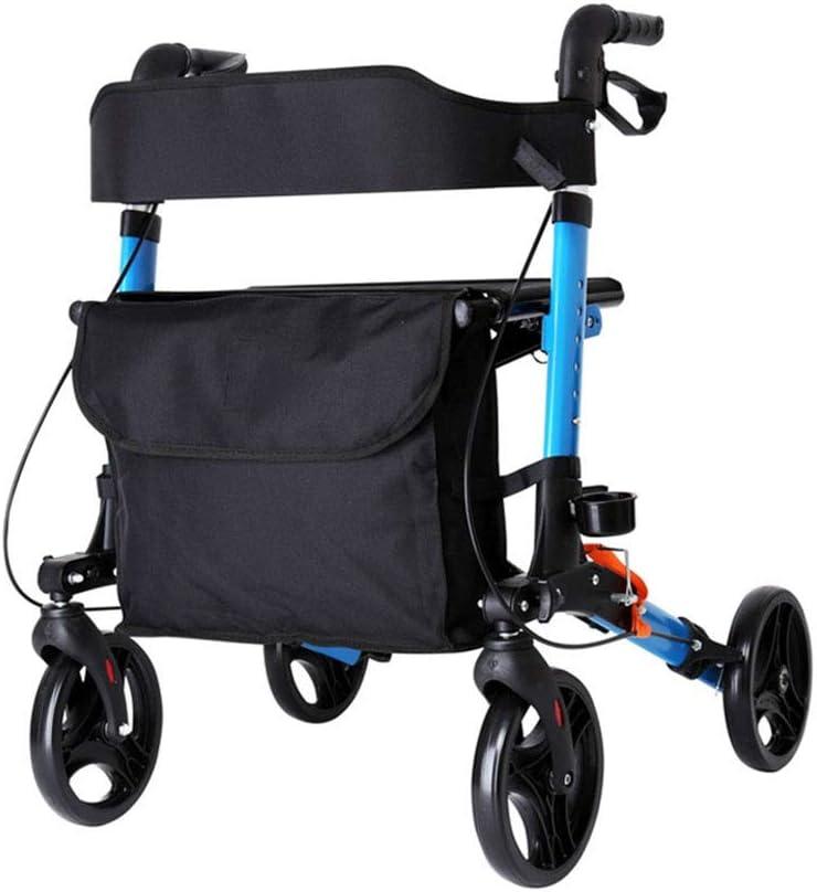 WEIJINGRIHUA Trolley Walker with Wheel with seat, Multi-Function