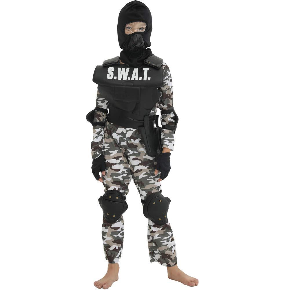 LOLANTA Traje del Equipo SWAT para niños Traje de ejército de ...