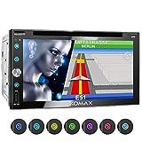 XOMAX XM-2DN6909 Autoradio mit Mirrorlink, GPS Navigation, Navi Software, Bluetooth Freisprecheinrichtung, 6,9 Zoll / 17,5cm Touchscreen Bildschirm, FM Tuner, DVD, CD, SD, USB, 2 DIN