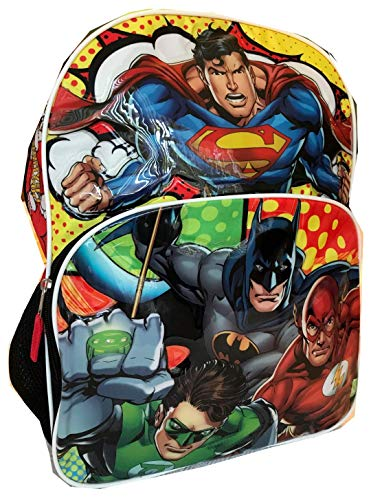 Justice League 16' Backpack Large Batman Superman Green Lantern