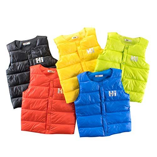 PAUBOLI Chaleco Acolchado para niños y niñas de Puboli, Peso Ligero, Chaleco de plumón 1-7T