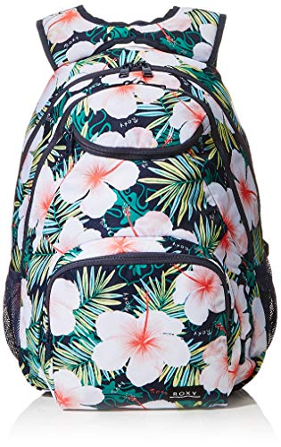 ROXY Womens SHADOW SWELL PRINTED Backpack, MOOD INDIGO GRANGE FLEUR, Medium