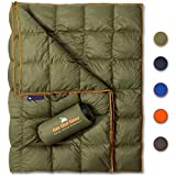 Get Out Gear Down Camping Blanket - Outdoor Lightweight Packable 650 Fill Power Down Blanket Compact Waterproof and Warm...
