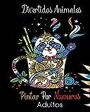 Divertidos Animales Pintar Por Numeros Adultos: Libro colorear por numeros para adultos : colorear con numeros adultos mandala lindos animales: gatos, ... para adultos: relajación y antiestrés -