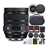 Sigma 24-70mm f/2.8 DG OS HSM Art Lens for Canon EF Bundle with USB Dock Advanced Travel Kit and 64GB Extreme PRO SD Card (5 Items)