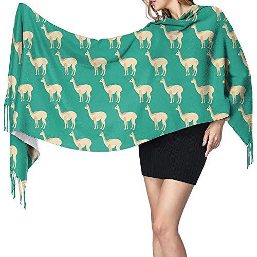 Rita.D Damen Stilvolle Warme Quasten Schal Vicuna Winter Große Decke Wrap Schal