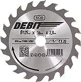 Lame au carbure pour scie circulaire SCID - Epaisseur 2,8 mm - 40 dents - Diamètre 170 mm - Alésage 16 mm