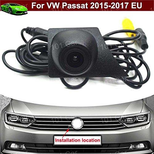 Yilaite Impermeable auto vehículo automóvil coche vista frontal cámara Logo Embedded Cámara coche parrilla delantera Cámara CCD amplio grado para VW Passat 2015 2016 2017 UE