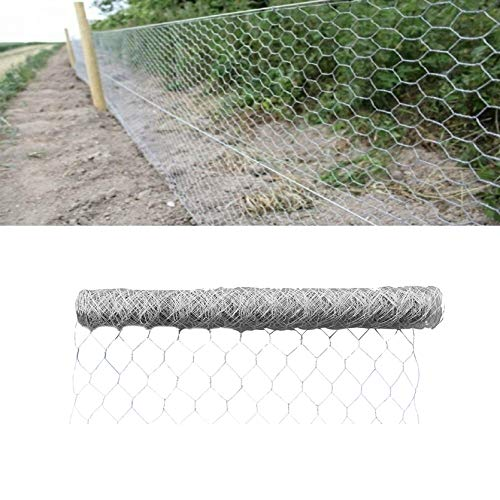 TINVHY 36Inch x 50 Inch x 2 Inch Galvanized Hexagonal Wire Poultry Netting Mesh for Craft Projects and Gardening Metal Mesh Fencing/Chicken Wire
