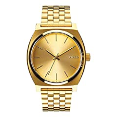 TIME TELLER, ALL GOLD. An original Nixon design, the gold watch face Women's Time Teller is clean-cut and high-concept with 3-hand movement and a sleek gold metal band. IT'S ALL TIME. A timeless classic and all-time best seller, the Women's Time Tell...