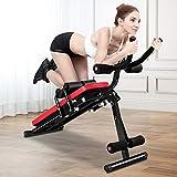 Banco per esercizi addominali, panca pieghevole per allenamento addominale, attrezzatura per allenamento completo con monitor LCD per gambe, cosce, glutei, rodeo, esercizi seduti