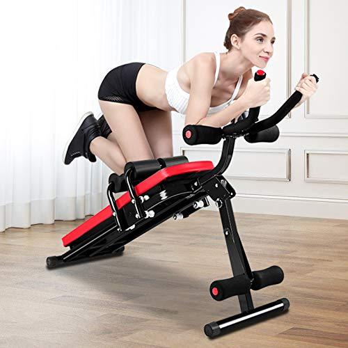 Banco per esercizi addominali, panca pieghevole per allenamento addominale, attrezzatura per allenamento completo con monitor LCD per gambe, cosce, glutei, rodeo,...