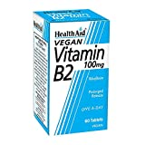 HealthAid Vitamin B2 (Riboflavin) 100mg - Prolong Release - 60 Tablets by HealthAid