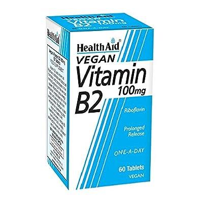 HealthAid Vitamin B2 (Riboflavin) 100mg - Prolong Release - 60 Tablets by HealthAid