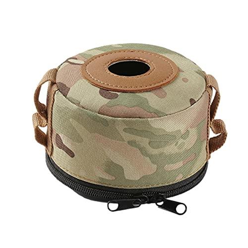 Cubierta para bote de gas, cubierta protectora de bote de gas transpirable resistente a la intemperie Cubierta protectora de camuflaje para tanque de gas para acampar y otras actividades al aire libre