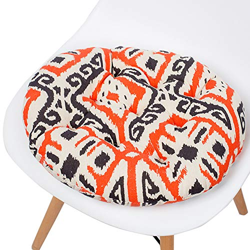 Z IMEI Soft Patio Chair Pad country Style Tufted Seat Cushion reversible Floor Cushion superior Comfort And Softness reduces Pressure On The Butt E 40x40cm(16x16inch)