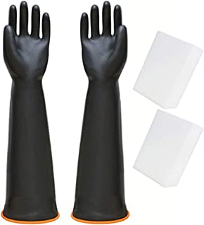 Aquarium Gloves,Fish Tank Scrub,Fish Tank Cleaning Tools Set,Keep Hands & Arms Dry,Prevents Contamination,Allergies,Nano Sponge,Saltwater Aquarium Supplies