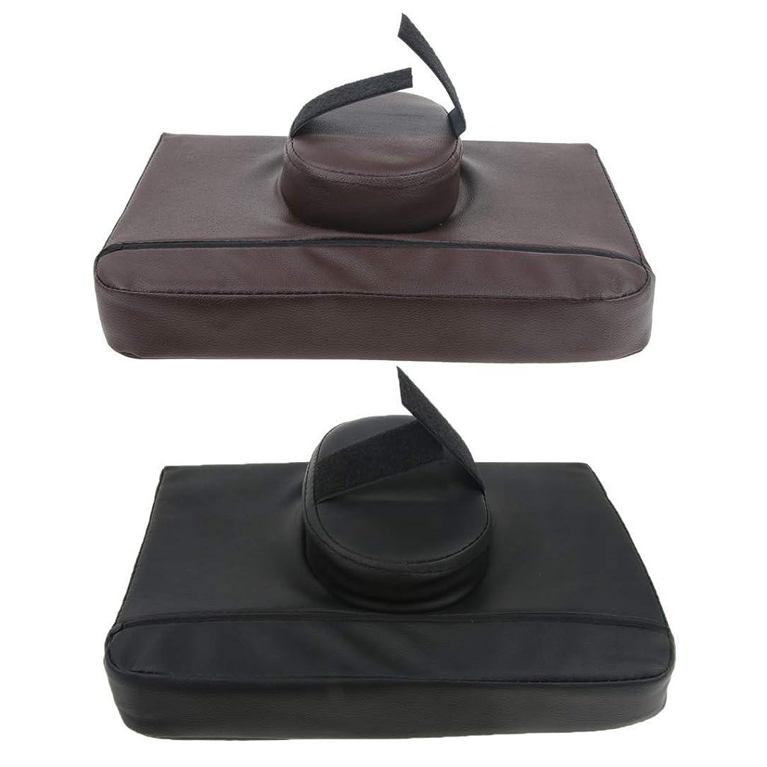 シャッフル軽食見分けるCUTICATE マッサージ枕 マッサージピロー スクエア マッサージテーブル用クッション 通気性 快適 実用的 2個