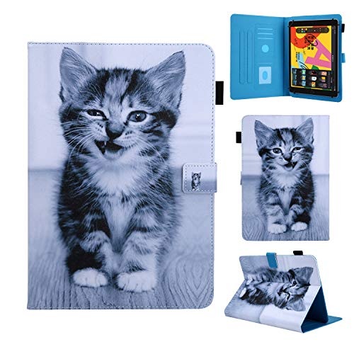 Funda Compatible con 9-10,5' Tableta, Carcasa Protección para Samsung Galaxy Tab A6 10,1'/A7 10,4', iPad 2/3/4, iPad 2018, Lenovo Tab M10/E10/P10, Huawei MediaPad T5/M5 Lite 10/MatePad T10S, Gato