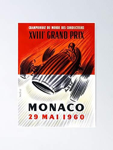 AZSTEEL Póster del Gran Premio de Mónaco de 1960