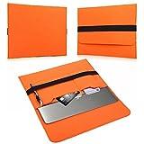 NAUC Laptop Tasche Sleeve Schutztasche Hülle Tablets MacBook Netbook Ultrabook Hülle kompatibel mit Samsung Apple Asus Medion Lenovo, Farben:Orange, Für Notebook:Sony VAIO VPC-Z21C5E