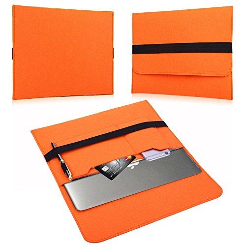 NAUC Laptop Tasche Sleeve Schutztasche Hülle Tablets MacBook Netbook Ultrabook Case kompatibel mit Samsung Apple Asus Medion Lenovo, Farben:Orange, Für Notebook:Archos 133 Oxygen