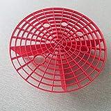 ETbotu Auto zubehör - Geschenke für Männer,Autowäsche Grit Guard Einsatz Waschbrett Wassereimer Kratzer Schmutzfilter rot 23,5 cm