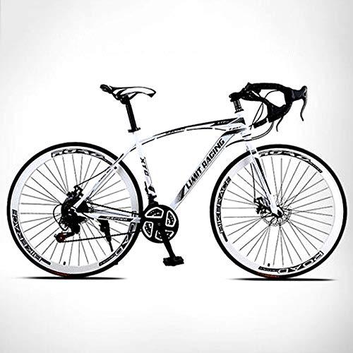 TXX 21-Velocità Gomme Piene e Leggero in Bicicletta per Adulti,Studenti e Studentesse Bici da Strada,Velocità Di Volo Dal Vivo Piegare Le Auto da Corsa Morto Fly Suv/bianca / 21 speed
