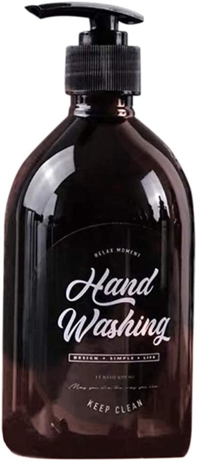 Bathroom soap dispenser 500ml High quality new Bottle Soap Brown Ranking TOP17 Shower