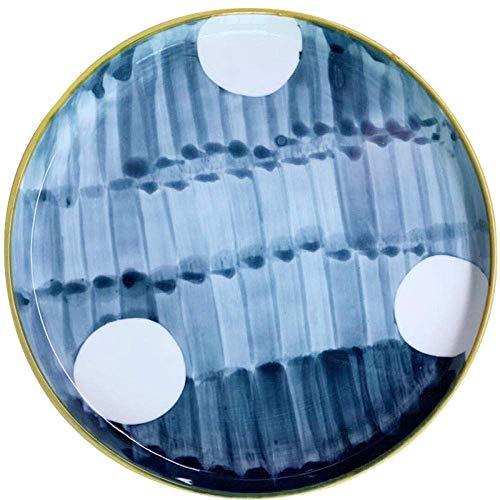 Geschirr Teller Teller und Schalen Einfach zu platzieren 4 Esstische im nordischen Stil Vollholz Schwarz Walnuss Zufällige unregelmäßige Ellipse Holzplatte Obstteller