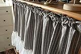LYDM Mezza Tenda, Tenda di Lino Giapponese Blackout Polvere caffetteria Cucina Porta dell'Armadio lavandino mezzi tendaggi 1 pz