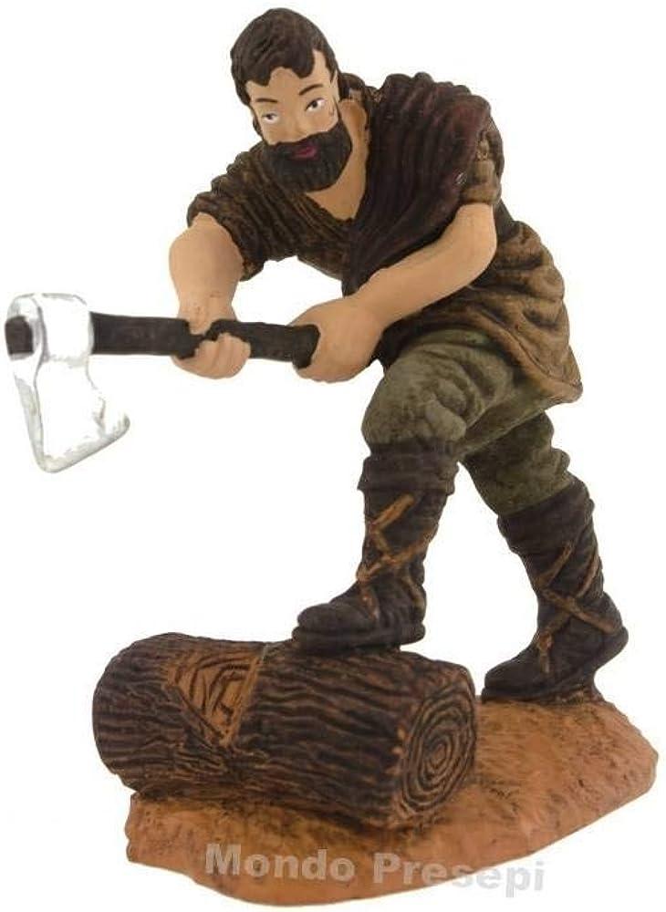 Generico boscaiolo con ascia cm 10 ,personaggio del presepe