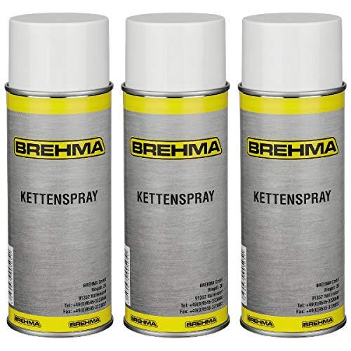3x Kettenspray Kettenfett 400 ml für O-Ring-Ketten geeignet transparent