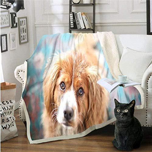 XZHYMJ Manta Engrosada de Doble Capa Manta de sofá Manta de Terciopelo de algodón impresión 3D Manta Multiusos de Animales @ 150x200cm_colour6-El 150x200cm_Color4