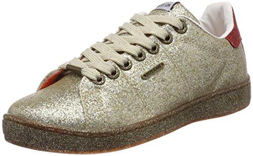 Pepe Jeans London Damen Brompton Part Sneaker, Gold, 40 EU
