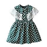Festlich Mädchen Kleid für Kinder Prinzessin Spitzen Kleider Hochzeit Blumenmädchenkleid 92 104 116 128 140 152 164
