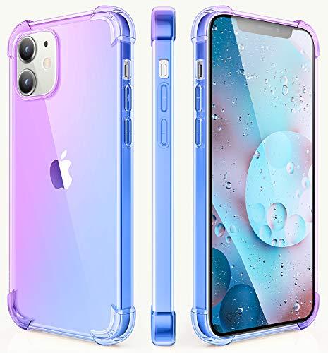 Salawat Schutzhülle für iPhone mit Farbverlauf, Violett / Blau