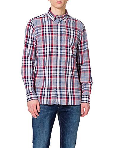 Tommy Hilfiger Herren MIDSCALE Check Shirt Hemd, Arizona Rot/Yale Navy/Multi, M