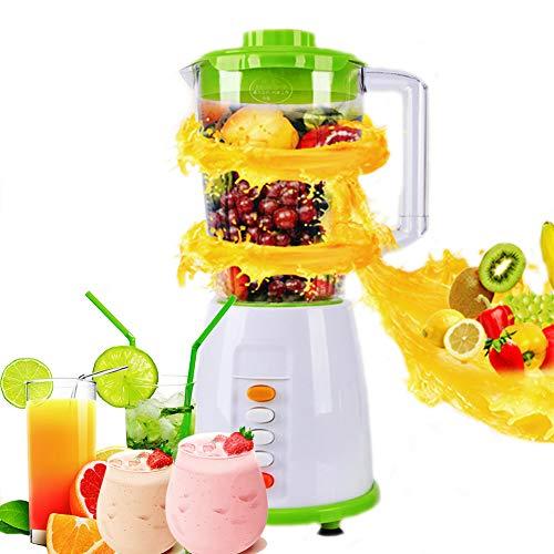 Wsaman Batidora de Vaso para Smoothies y Zumos, Bio Chef con Jarra de 2.0 L para Hacer Jugos de Frutas/Batidos/Milkshake/Smoothies Etc Batidora