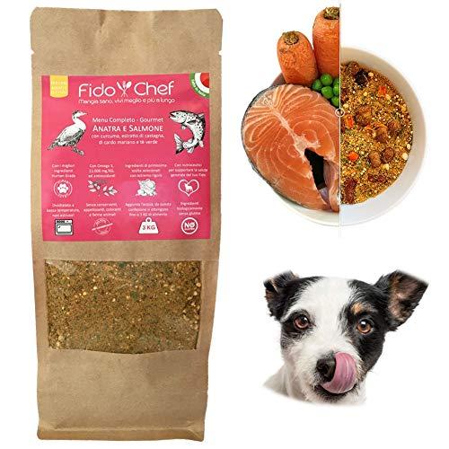 FIDOCHEF® Cibo per Cani con Le Migliori MATERIE Prime FRESCHE, Alimenti disidratati, Cibo Cani Senza GLUTINE, Prodotto Artigianale 100% Naturale Alta qualità – Vari Gusti (Gourmet)