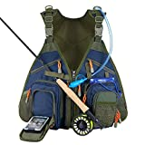 Piscifun Fishing Vest Backpack with Water Bladder and Waterproof Phone...