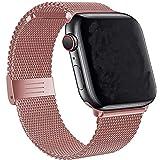 Tervoka Ersatzarmband kompatibel mit Apple Watch Armband 40mm 38mm, Metal Edelstahl Armband mit...