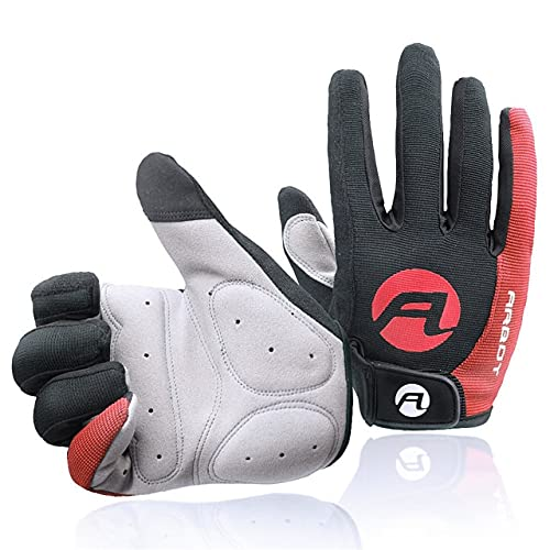 MTB Bike Gloves Anti skid Sun proof High Temperature Resistance Outdoor Cycling BicycleTouch Screen Gloves Bicycle Gloves-Red-9-M