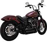 Vance & Hines Shortshots Staggered Exhaust (Black) for 18-19 Harley FXBB