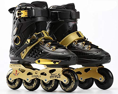 XIUWOUG Herren Damen Inliner Inlineskates | 82A Rollen | ABEC-7 Chrome Kugellager | Unisex Fitness Skates für Erwachsene,Schwarz,43