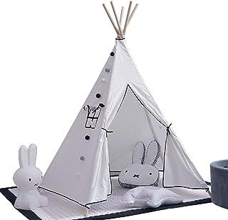 Heqianqian Barntält barn leka tält tipi lekstugor för barn inomhus/utomhus hopfällbara tipi-tält med roliga dekorationer b...