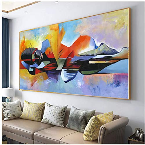 Drop shipping Larger Lord Buddha Abstract Oil Painting Buddha Canvas Religious Poster Print Wall Art Pictures For Living Room 60x120cm(24x48in)