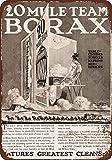 Lionkin8 Letrero de metal de 20 x 30 cm, 20 mule Team Borax Detergent – Shop Man Cueva Bar Garaje...